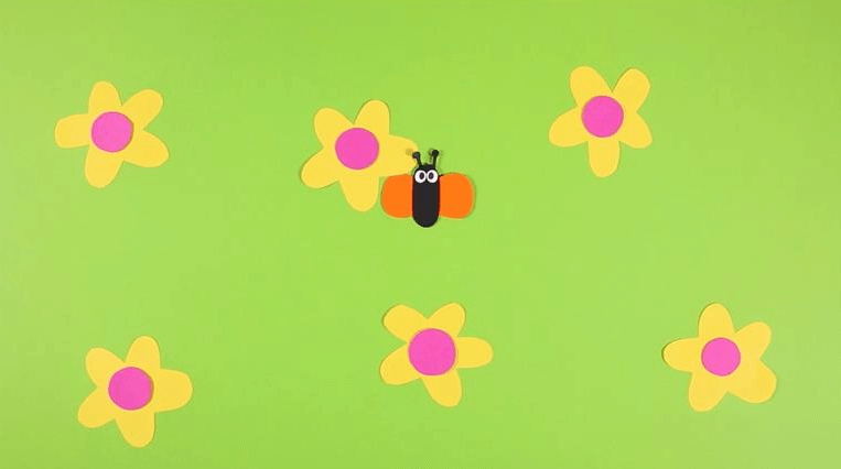 papillon film en papier