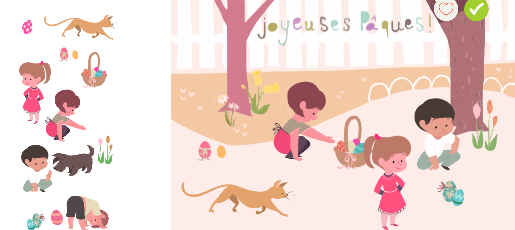 Joyeuses Pâques ! Carte animée